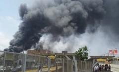 Incendio en fábrica de Zapatos en Independencia