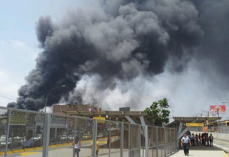 Incendio en fabrica zapatos Industrias Manrique